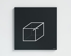 3D Cube Wall Clock by dESIGNoBJECT
