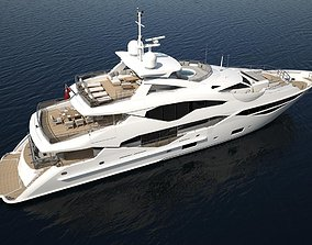Sunseeker 131 yacht 3D Print file in high polygon with