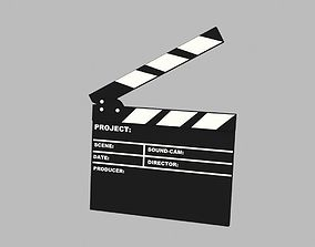animated 3D Film Clapper Animation