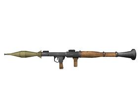 Grenade Launcher low-poly 3D model