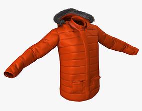 Winter Jacket 3D asset low-poly