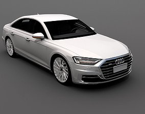 Audi A8 2018 3D asset rigged realtime