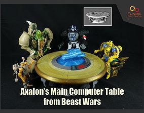Axalon Main Computer Table from 3D print model 2