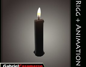 3D asset animated Candle