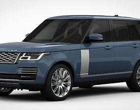 3D Range Rover Autobiography 2018 detailed interior