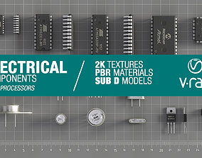 3D model VR / AR ready Electrical components vol2