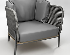 Omer padded rope lounge chair 3D