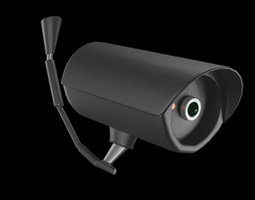 3D model Simple Low Poly Security Camera