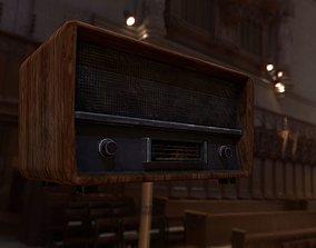 3D model low-poly Retro Radio