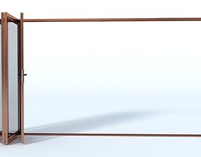 Bi-fold mesh door 3D model