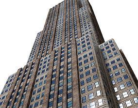 Skyscraper Building 3D asset game-ready PBR