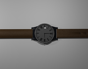 3D model low-poly Wrist watch