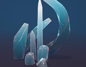 8 Minerals blue 3D model