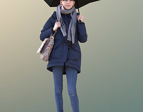 3D model Lisa 10731 - Standing Girl with Umbrella