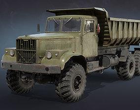 3D asset game-ready KrAZ-255 Dump Truck