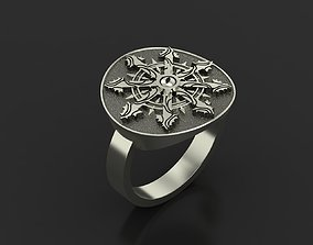 ring jewelry star of chaos 3D print model
