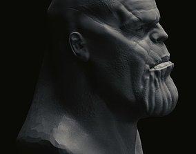 Thanos 3d head thanos