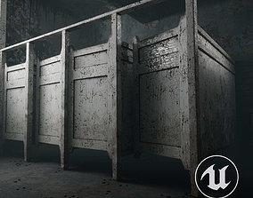 3D model Abandoned toilet