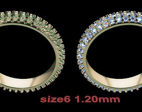 Dainty Cluster Diamond Infinity Band Size6 3D print model
