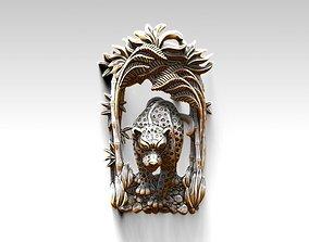 Panthera pendant miniature crouching 3D printable model