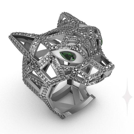 Ring Panther Cartier diamond