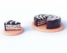 3D asset Cake Low Poly