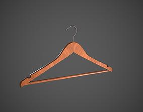 Wooden Dress Hanger 3D asset