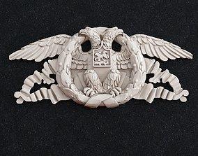 3D print model Eagle tape coat of arms