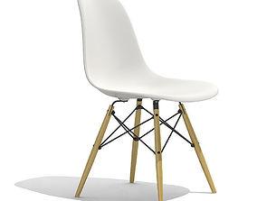 3D Eames Plastic Side Chair DSW