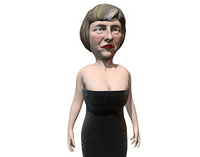 3D model Feresa Hey caricature low poly game ready rigged