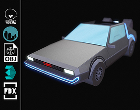 3D asset DELOREAN