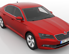 Skoda Superb 2015-2019 3D model