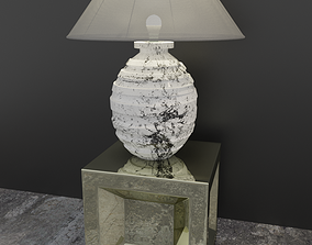 Lamp with metal table 3D