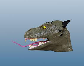 Lizardfolk Head 3D model