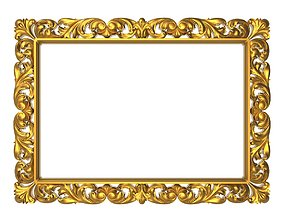 gallery carved frame 3D model