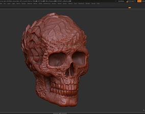 Ornament skull 01 3d print model