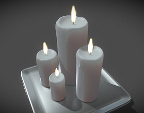 3D model Animated Candles