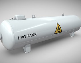 3D Liquefied Petroleum Gas Tank High-Poly
