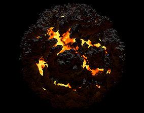 Lava Planet Asteroid 3D model