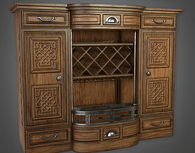Liquor Cabinet 01 Dive Bar - PBR Game Ready 3D model