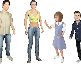 Family 4x models real cloth simulation conversation 2