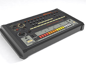 audio-device Roland TR-808 3D model