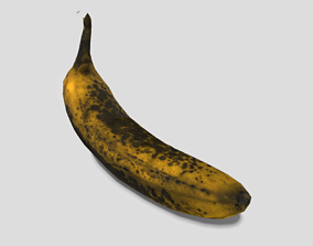 Banana Low Poly 3D model realtime