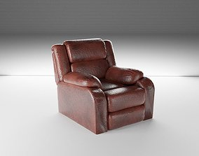Slightly Worn Leather Chair - Game and VR Ready 3D model