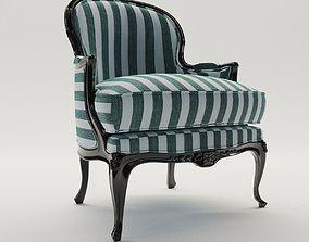 3D model furniture Baroque armchair - around 1900
