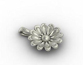 3D printable model matrix flower pendant