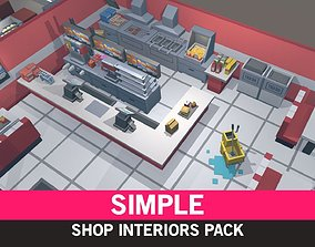 Simple Shop Interiors - Cartoon assets realtime