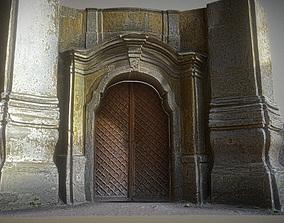 3D model Old rusty church gate scan