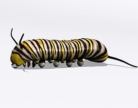 3D Monarch larva