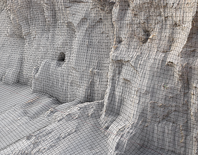 Sand cliff excavated 3D asset